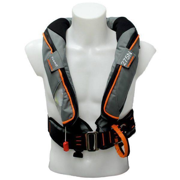 TeamO Reddingvest 275N PS met Backtow® veiligheidsharnas met Genosea badge