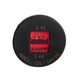 USB oplaadpunt / stopcontact met rode LED