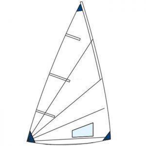 Laser 1 radial zeil