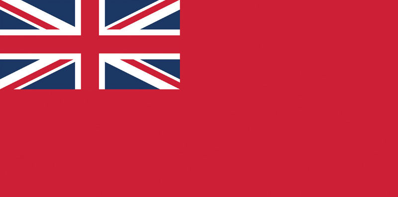 Britse koopvaardij-vlag Red Ensign